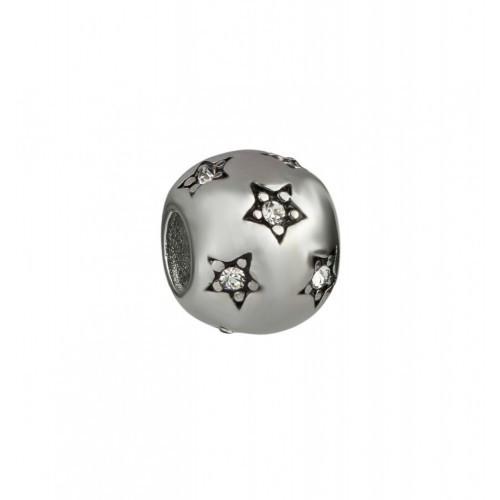 Шарм Pandora из стали со звездами 137129