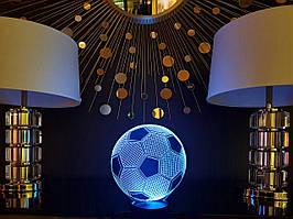 """Детский ночник - светильник  """"Футбольный мяч"""" 3DTOYSLAMP"""