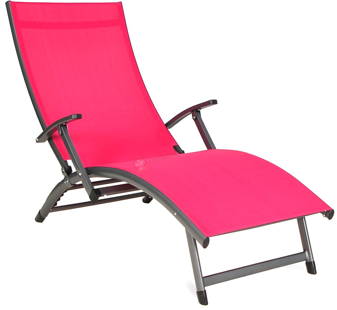 Лежак алюминиевый Relax красный