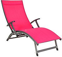 Лежак алюминиевый Relax красный, фото 1