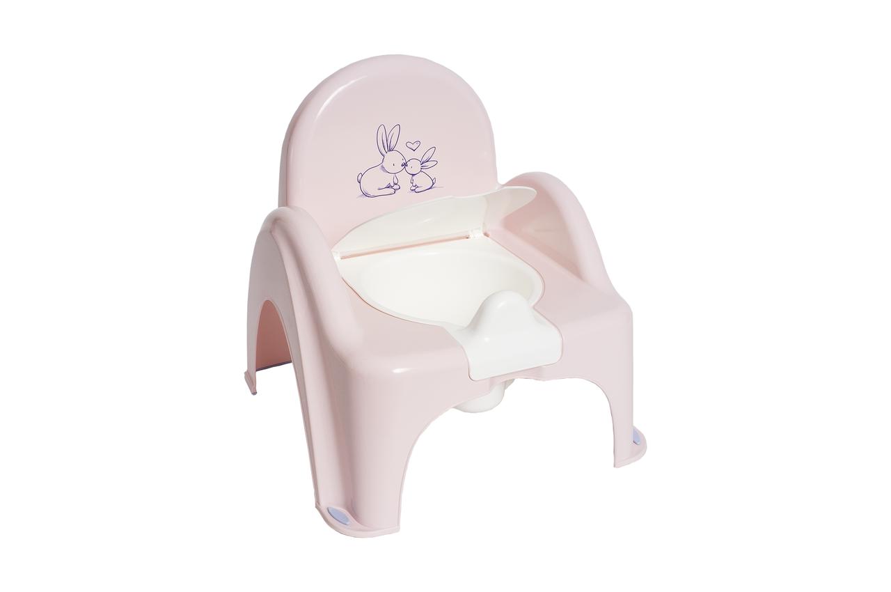 Горшок-стульчик музыкальный Кролики Tega Baby Розовый