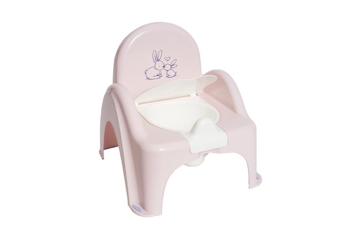 Горшок-стульчик музыкальный Кролики Tega Baby Розовый, фото 2