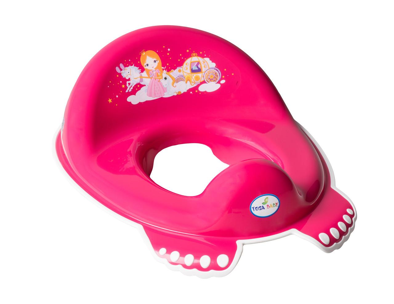 Накладка на унитаз нескользящая Tega Little Princess Розовый