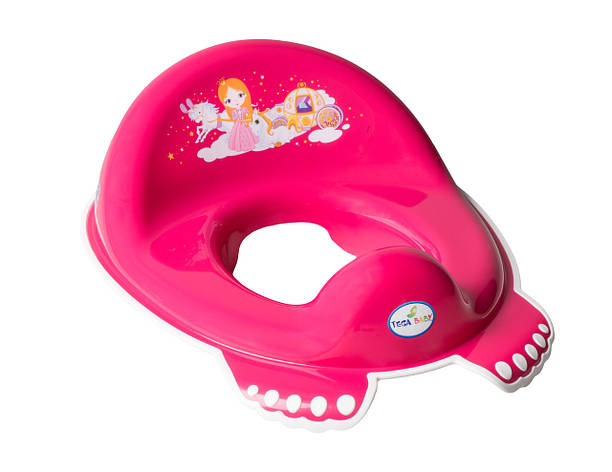 Накладка на унитаз нескользящая Tega Little Princess Розовый, фото 2