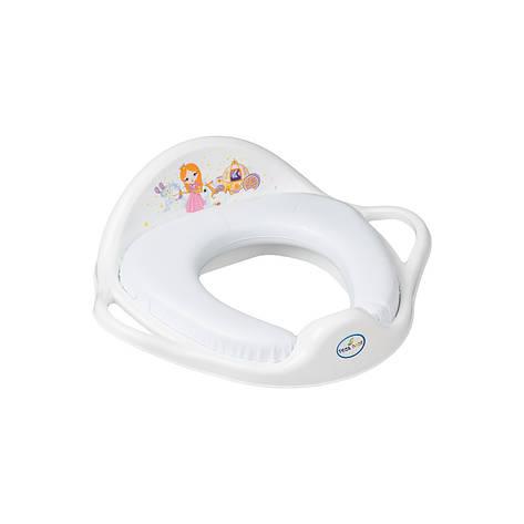 Накладка на унитаз мягкая Принцесы Tega Baby Белый, фото 2