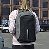 """Удобный повседневный рюкзак для ноутбука """"Bobby Gray антивор"""" c USB зарядным устройством"""