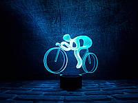 """Детский ночник - светильник """"Велосипед 2"""" 3DTOYSLAMP, фото 1"""