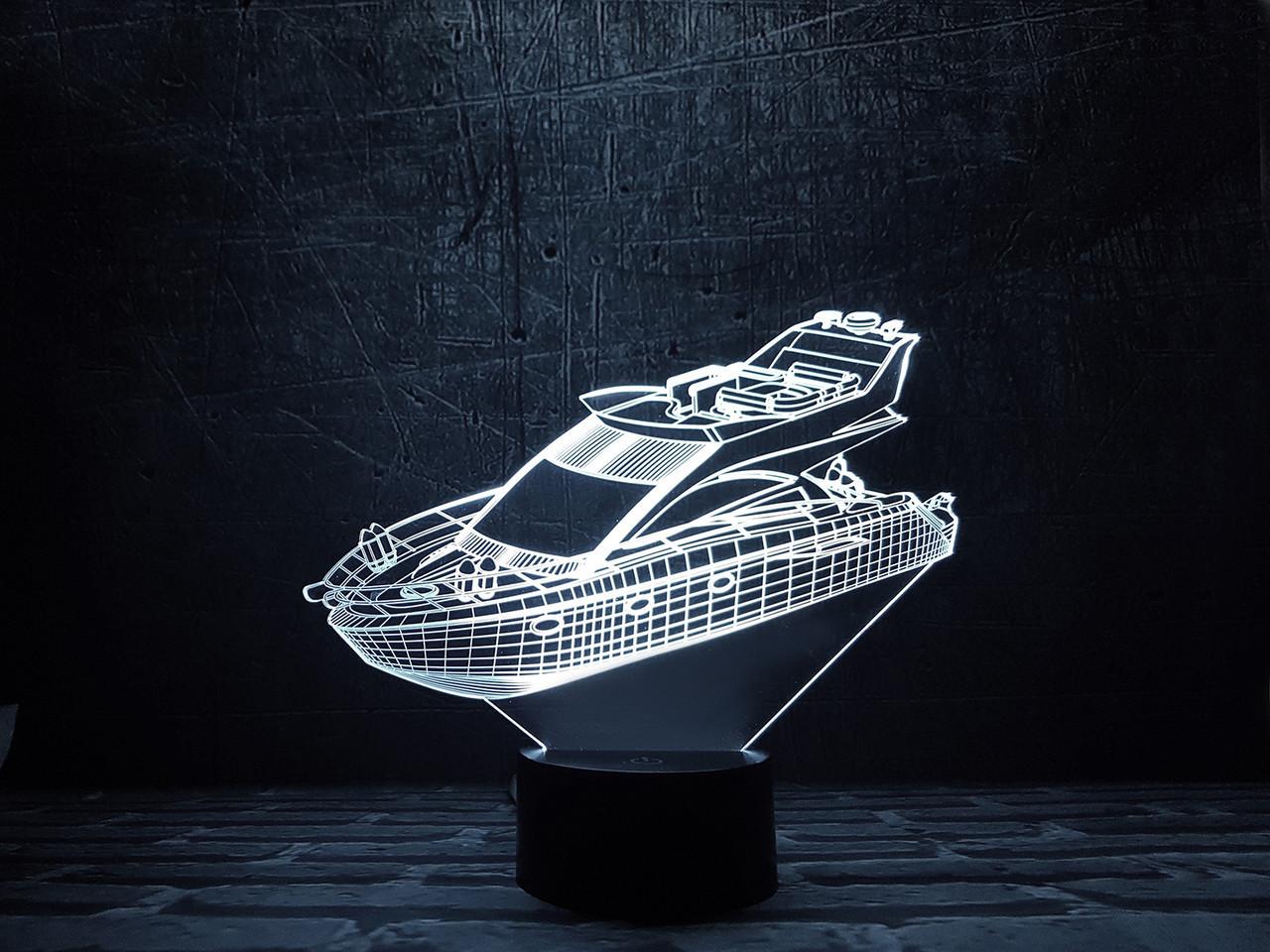 """Детский ночник - светильник """"Яхта"""" 3DTOYSLAMP"""