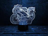"""Детский ночник - светильник """"Мотоцикл 2"""" 3DTOYSLAMP, фото 1"""