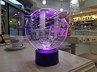"""Детский ночник - светильник """"Самолет 3"""" 3DTOYSLAMP, фото 1"""