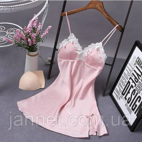Женская розовая ночная сорочка М (42-44р.) с дефектом
