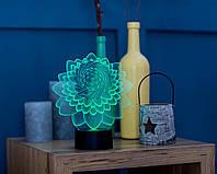 "3D светильник ""Лотос 2 "" 3DTOYSLAMP, фото 1"
