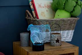 """3D светильник-ночник """"Бульдог"""" 3DTOYSLAMP"""