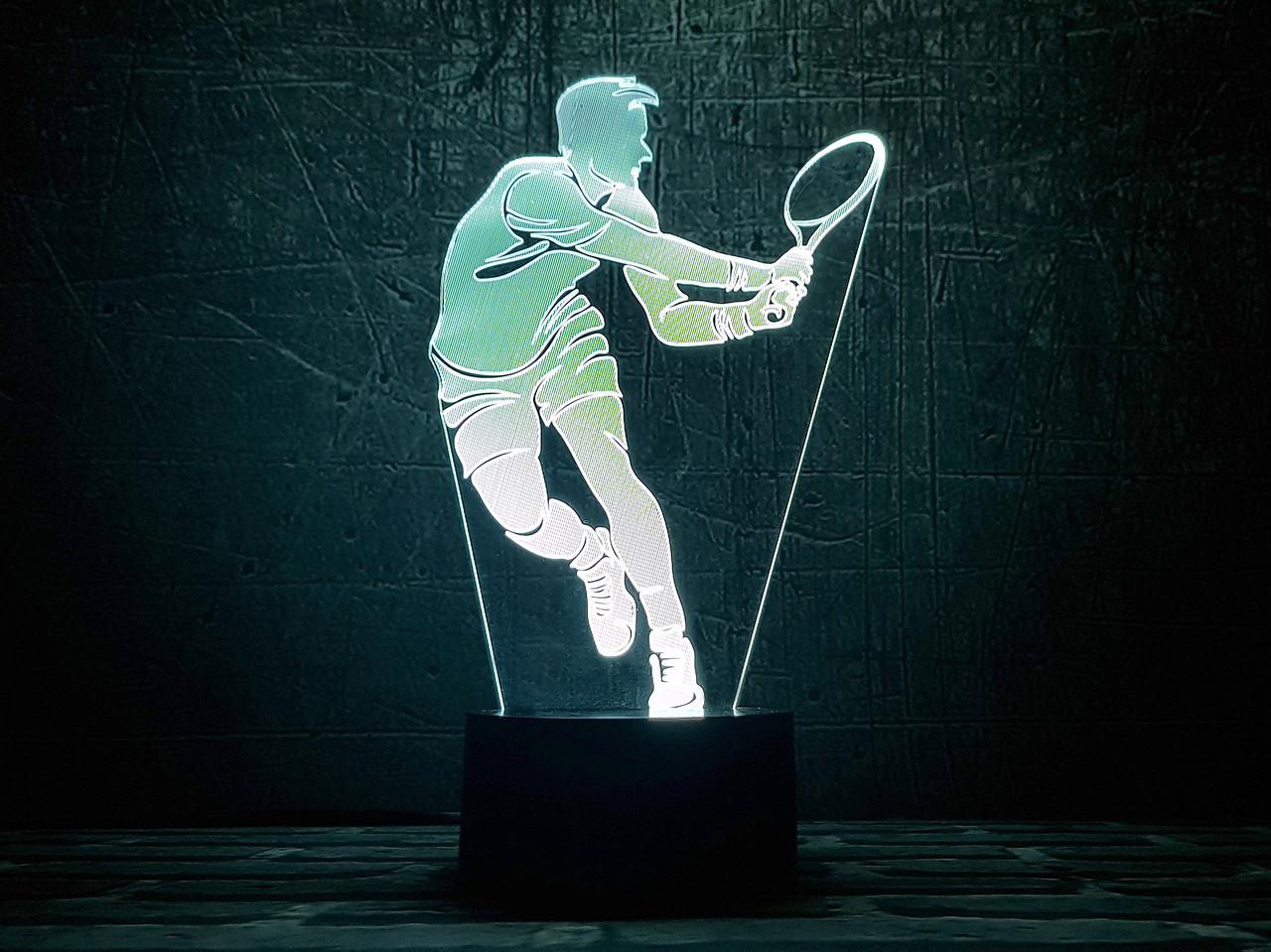 """3D светильник-ночник  """"Теннисист"""" 3DTOYSLAMP"""