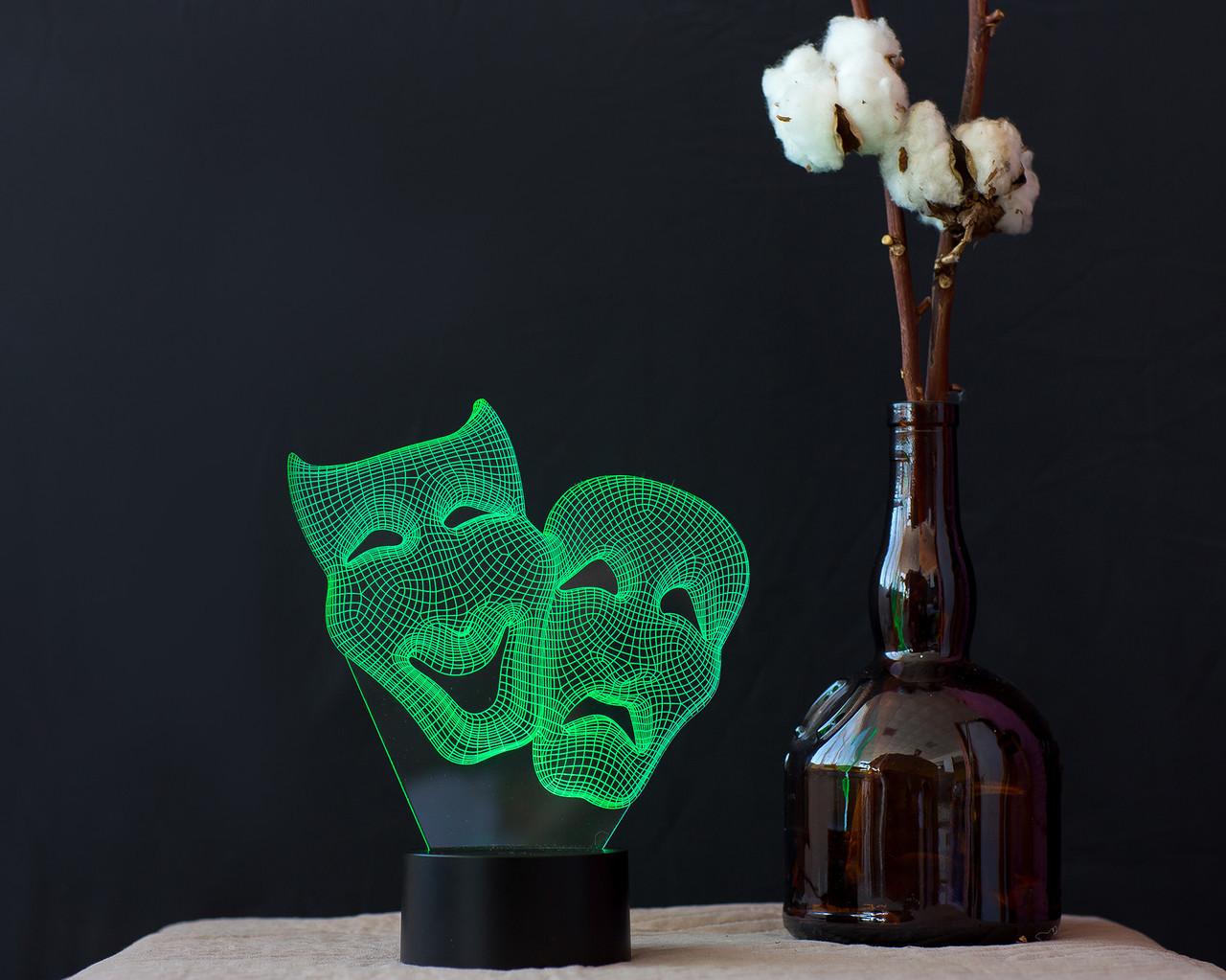 "3D светильник ""Маски "" 3DTOYSLAMP, фото 1"