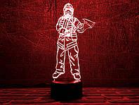"""3D светильник """"Пожарный 3 """" 3DTOYSLAMP, фото 1"""