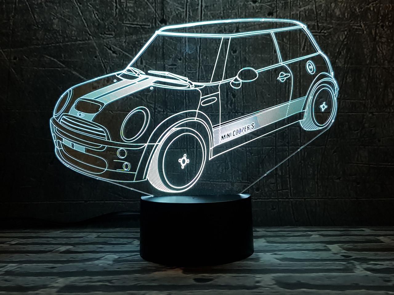 """3D светильник ночник """" Автомобиль 37  """" 3DTOYSLAMP"""