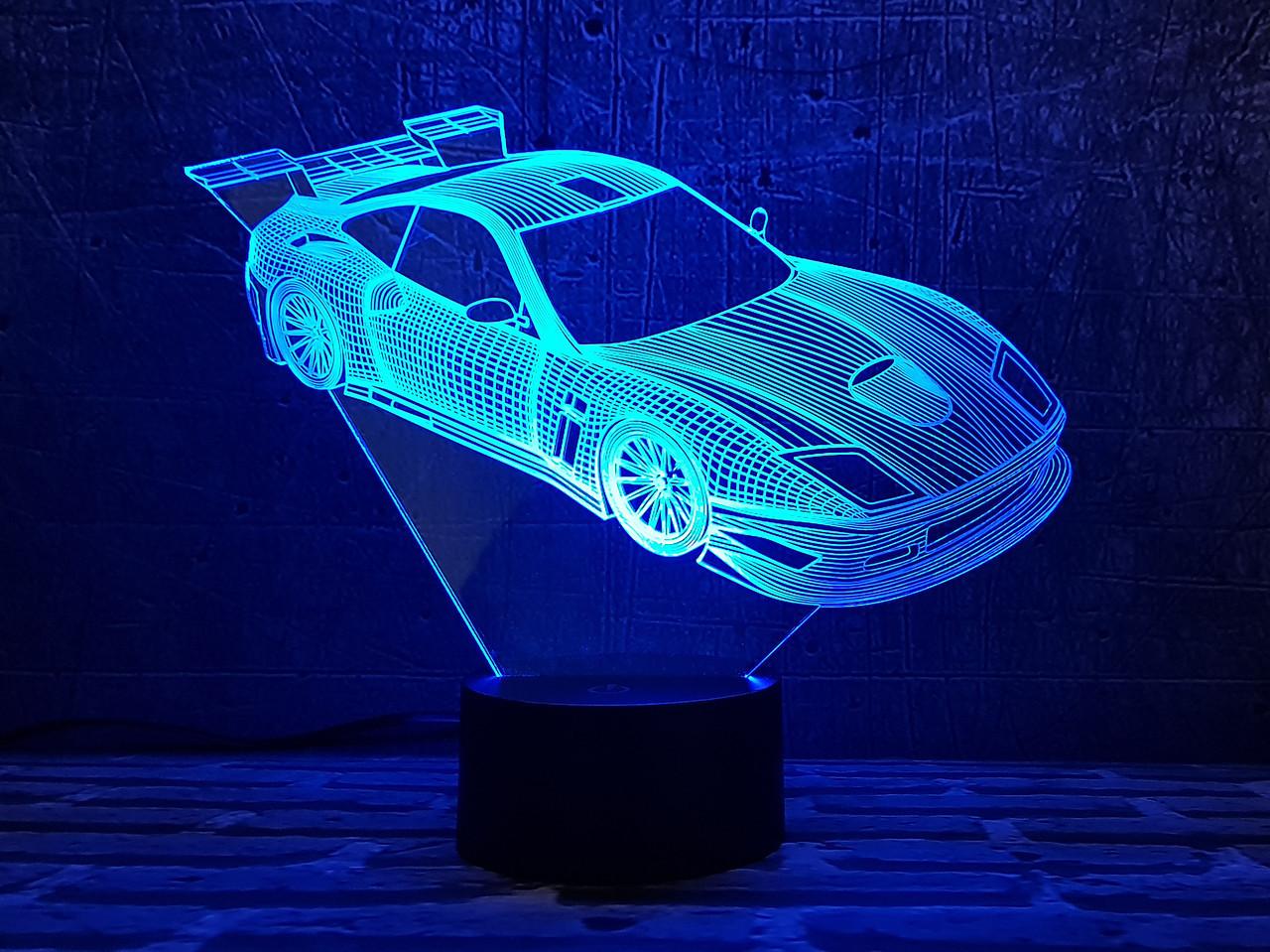 """3D светильник ночник """" Автомобиль 24  """" 3DTOYSLAMP"""