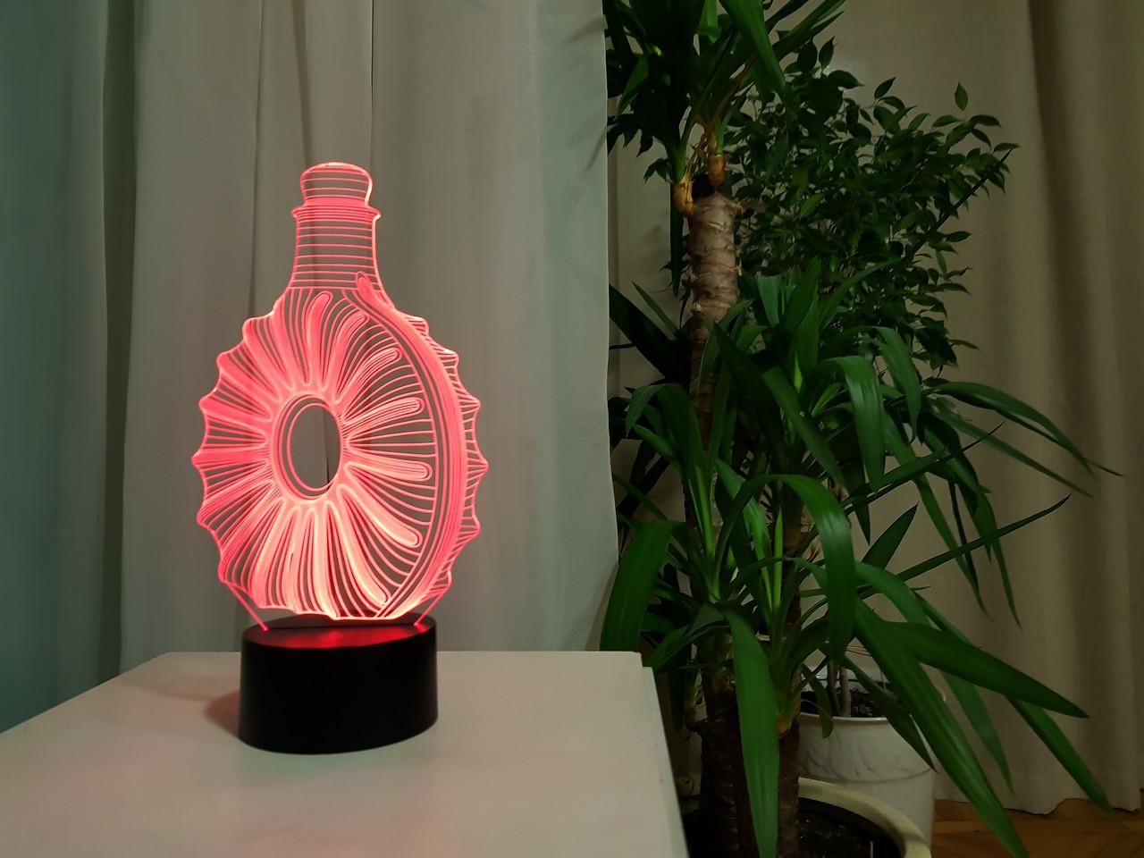 """3d светильник """"Коньяк"""" 3DTOYSLAMP"""