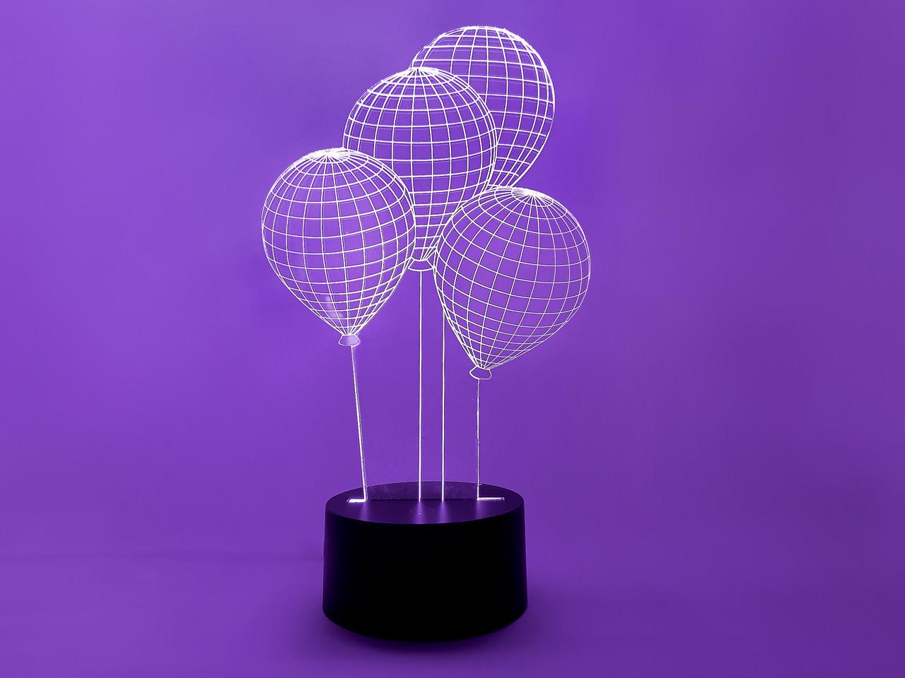 "Cветильник 3D ""Шарики"" 3DTOYSLAMP, фото 1"