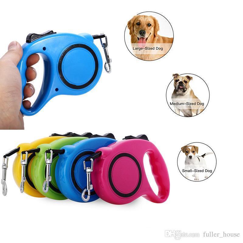 Поводок рулетка для собак с кнопочным блокиратором длины Retractable Dog Leash 8 м до 35 кг Большой
