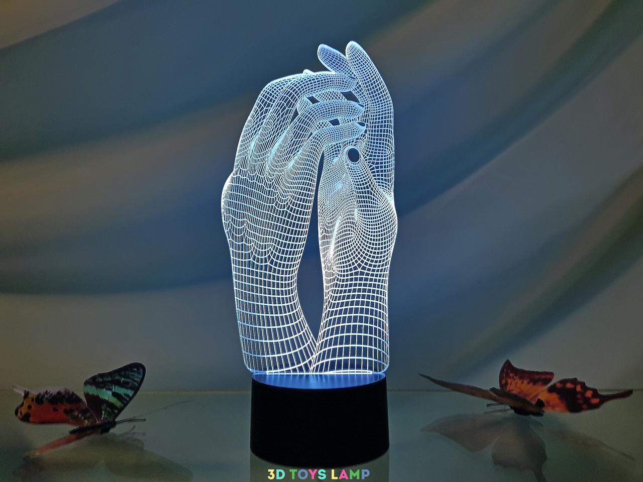 """3d светильник """"Маникюр"""" 3DTOYSLAMP"""