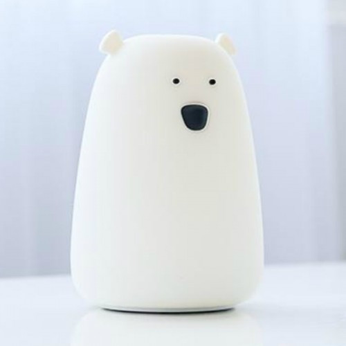 Силиконовый ночник «Мишка» белый 3DTOYSLAMP