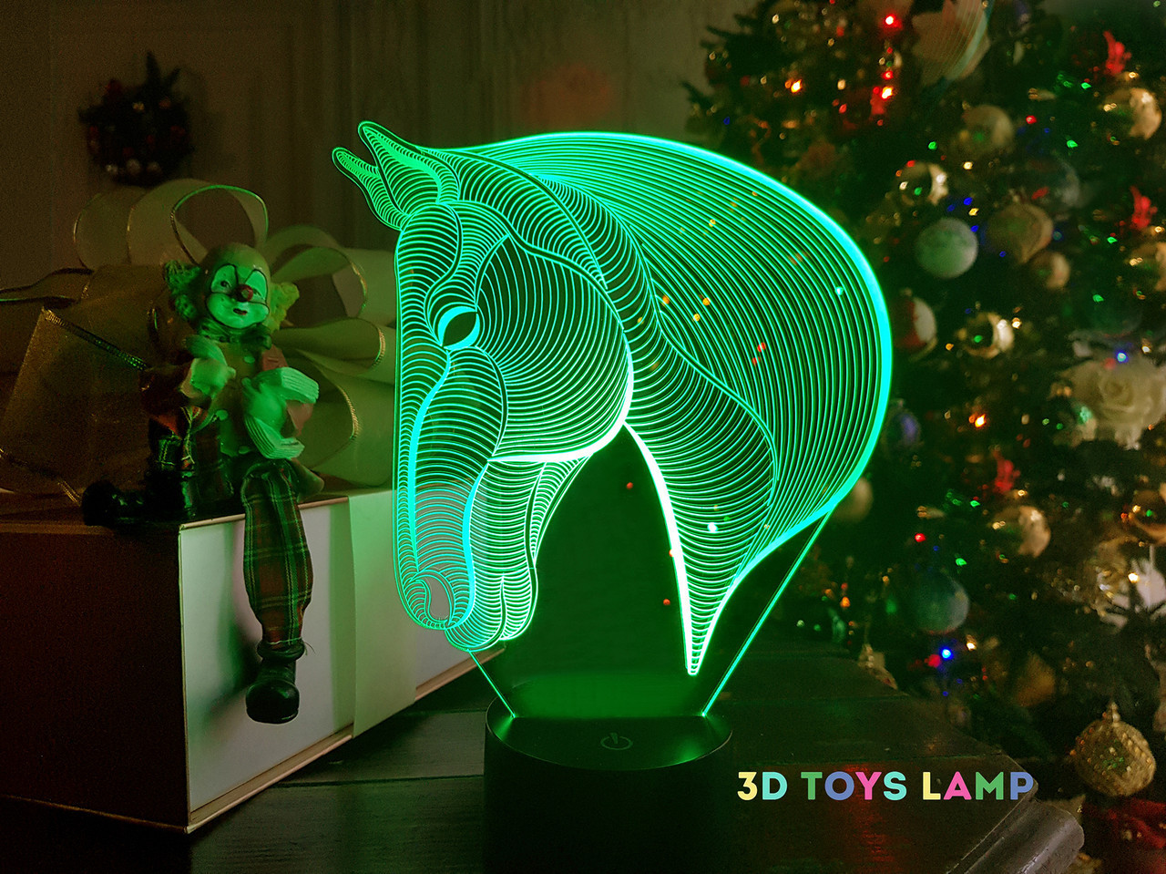 """Сменная пластина для 3D светильников """"Лошадка 3"""" 3DTOYSLAMP"""