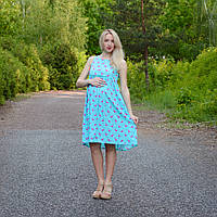 Сарафан Фламинго для беременных и кормящих мам HIGH HEELS MOM (голубой, размер L)