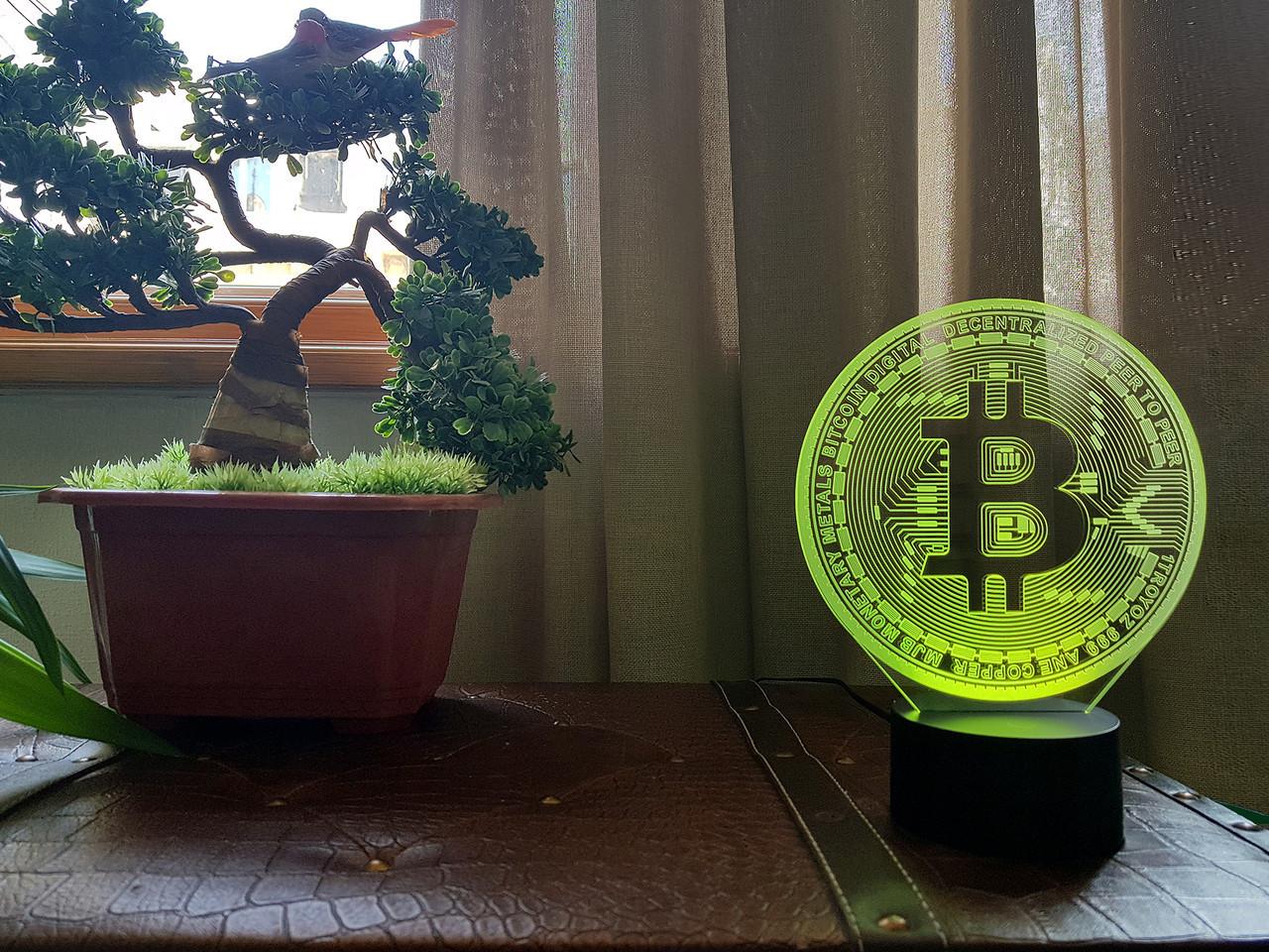 """Сменная пластина для 3D светильников """"Bitcoin"""" 3DTOYSLAMP"""