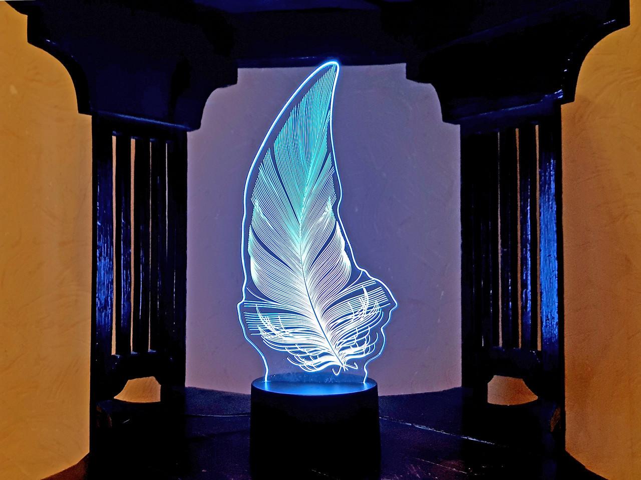 """Сменная пластина для 3D светильников """"Перо"""" 3DTOYSLAMP"""