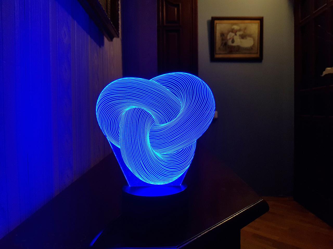 """Сменная пластина для 3D светильников """"Уроборос"""" 3DTOYSLAMP"""