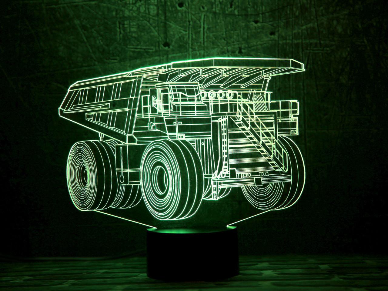 """Сменная пластина для 3D светильников """"Автомобиль 16"""" 3DTOYSLAMP"""