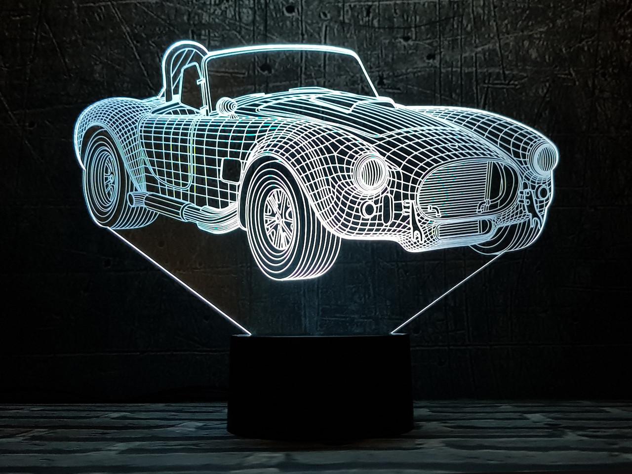 """Сменная пластина для 3D светильников """"Автомобиль 31"""" 3DTOYSLAMP"""