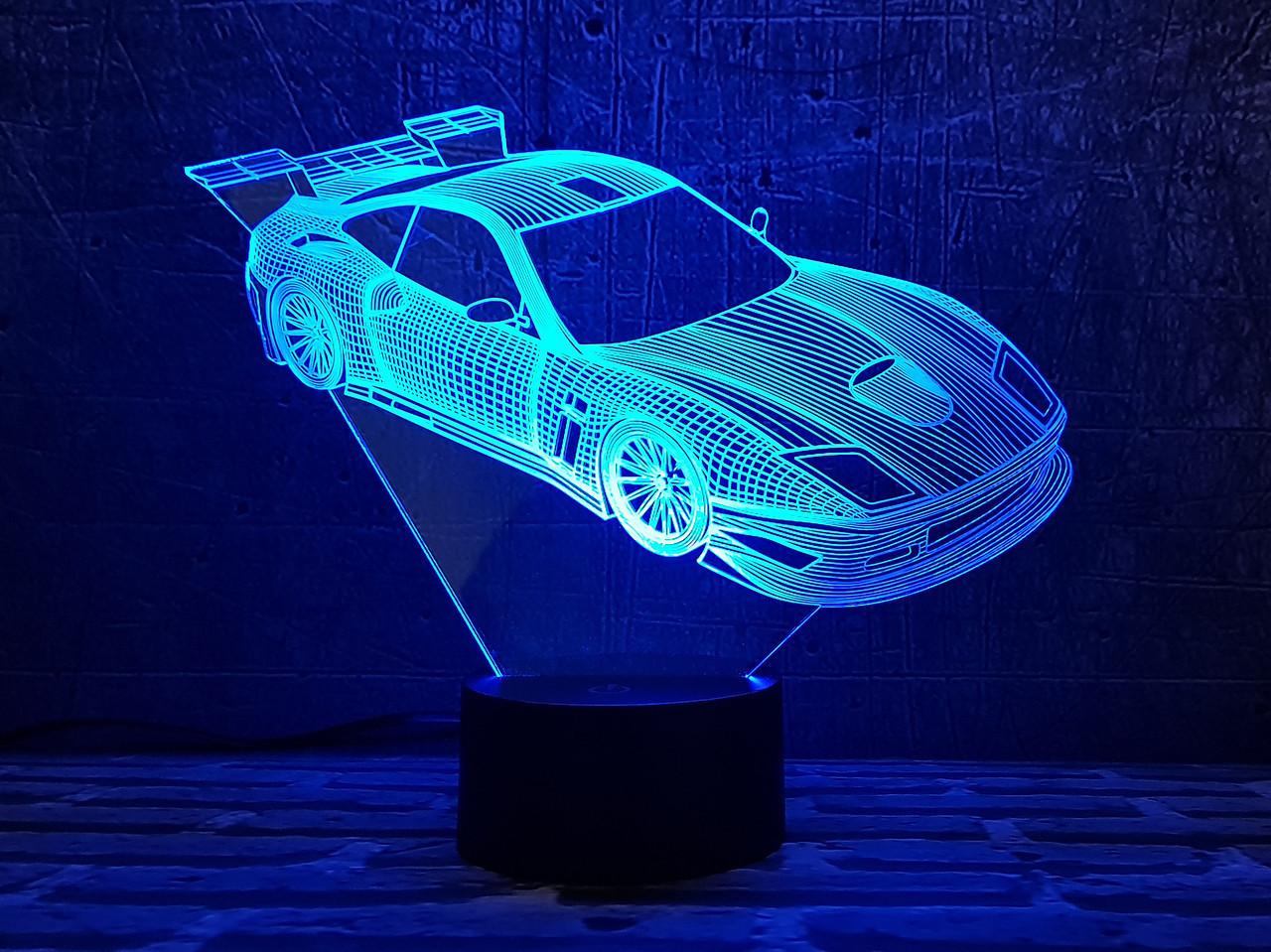 """Сменная пластина для 3D светильников """"Автомобиль 24"""" 3DTOYSLAMP, фото 1"""