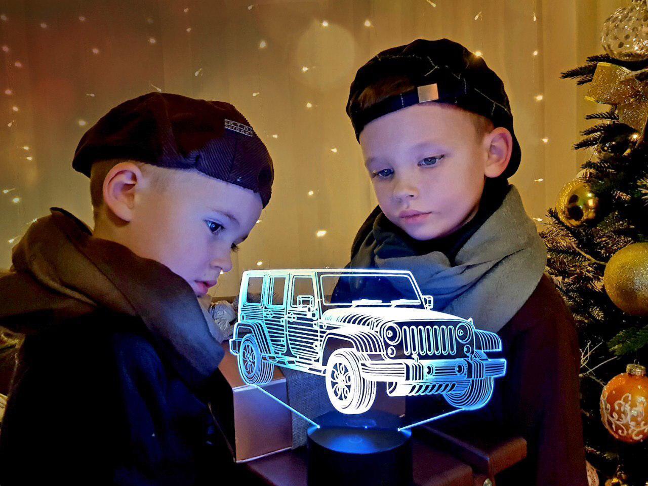 """Сменная пластина для 3D светильников """"Автомобиль 22"""" 3DTOYSLAMP"""