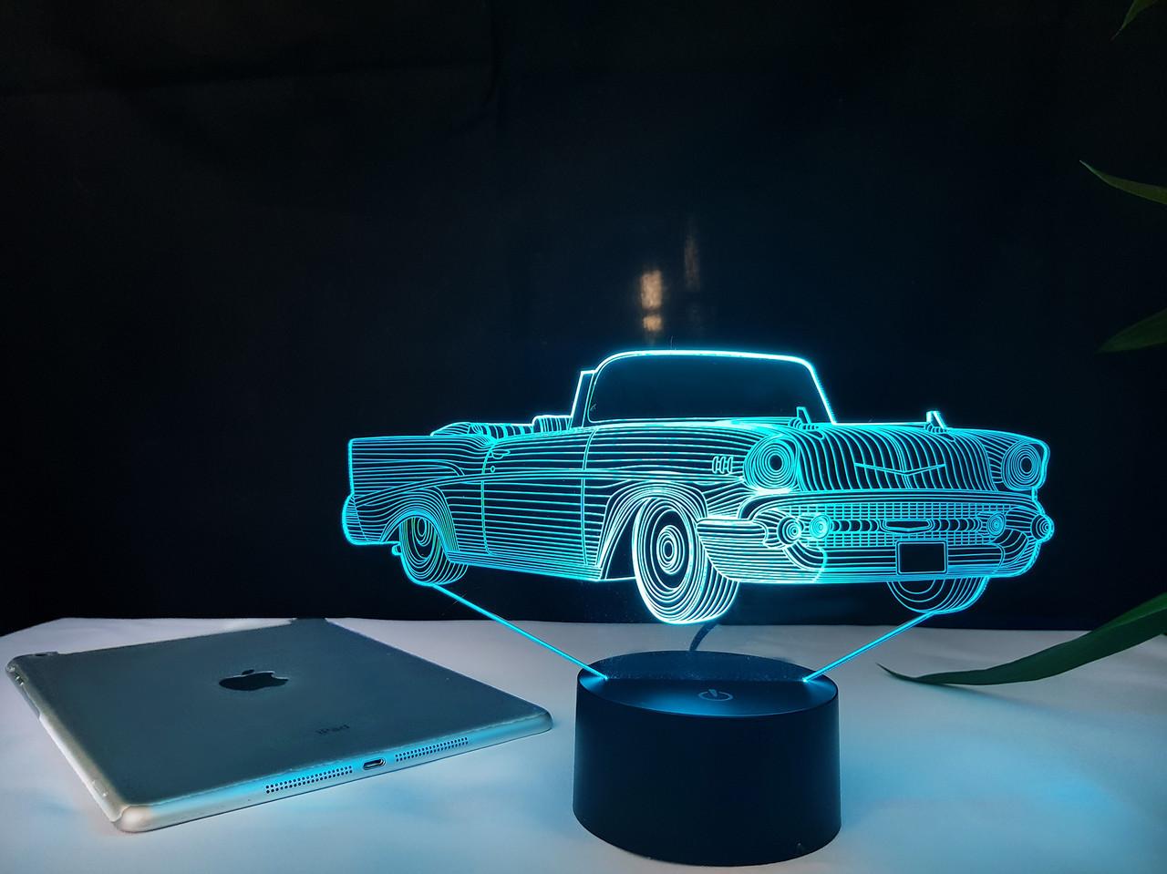 """Сменная пластина для 3D светильников """"Автомобиль 20"""" 3DTOYSLAMP"""