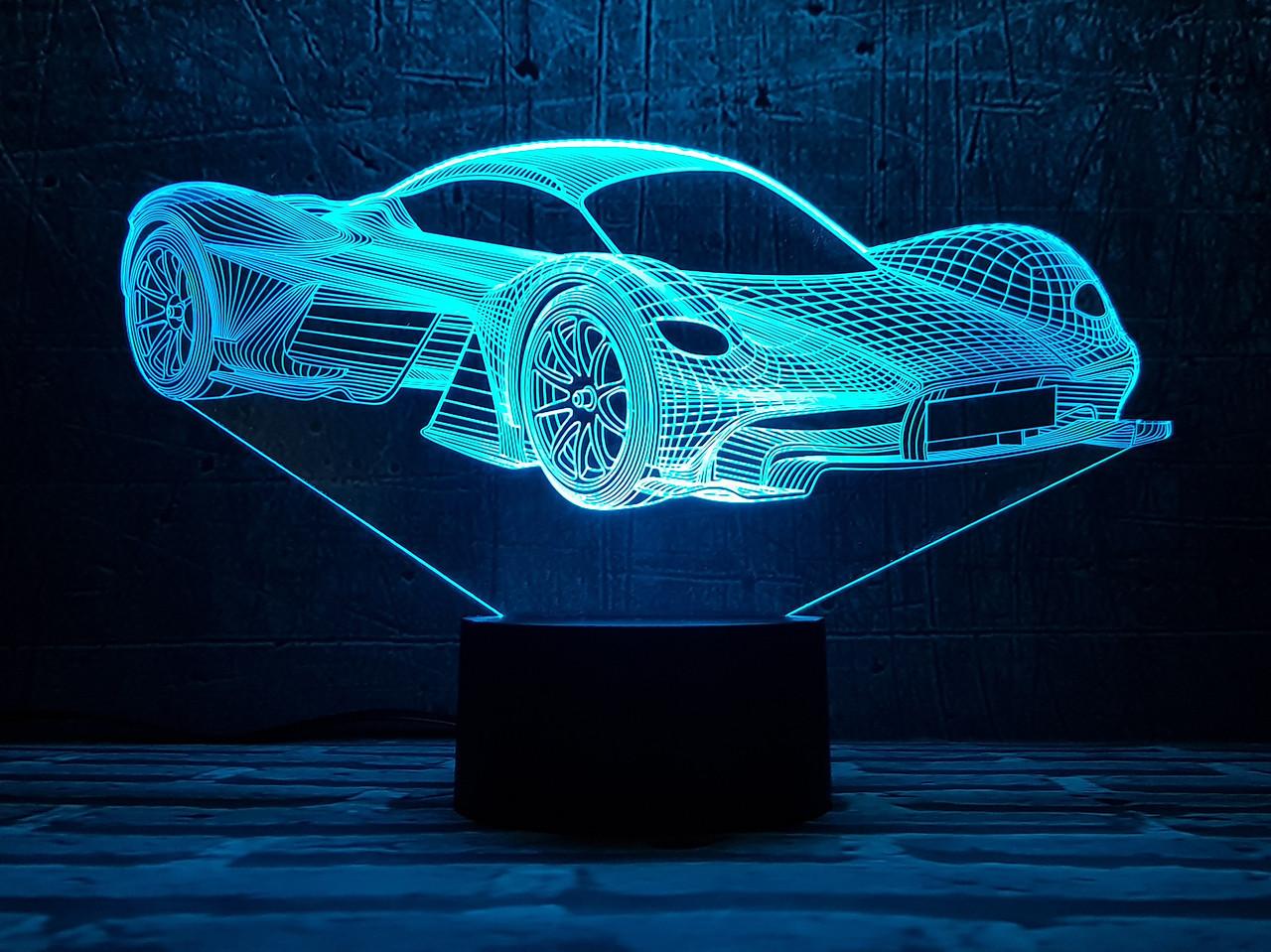"""Сменная пластина для 3D светильников """"Автомобиль 34"""" 3DTOYSLAMP"""