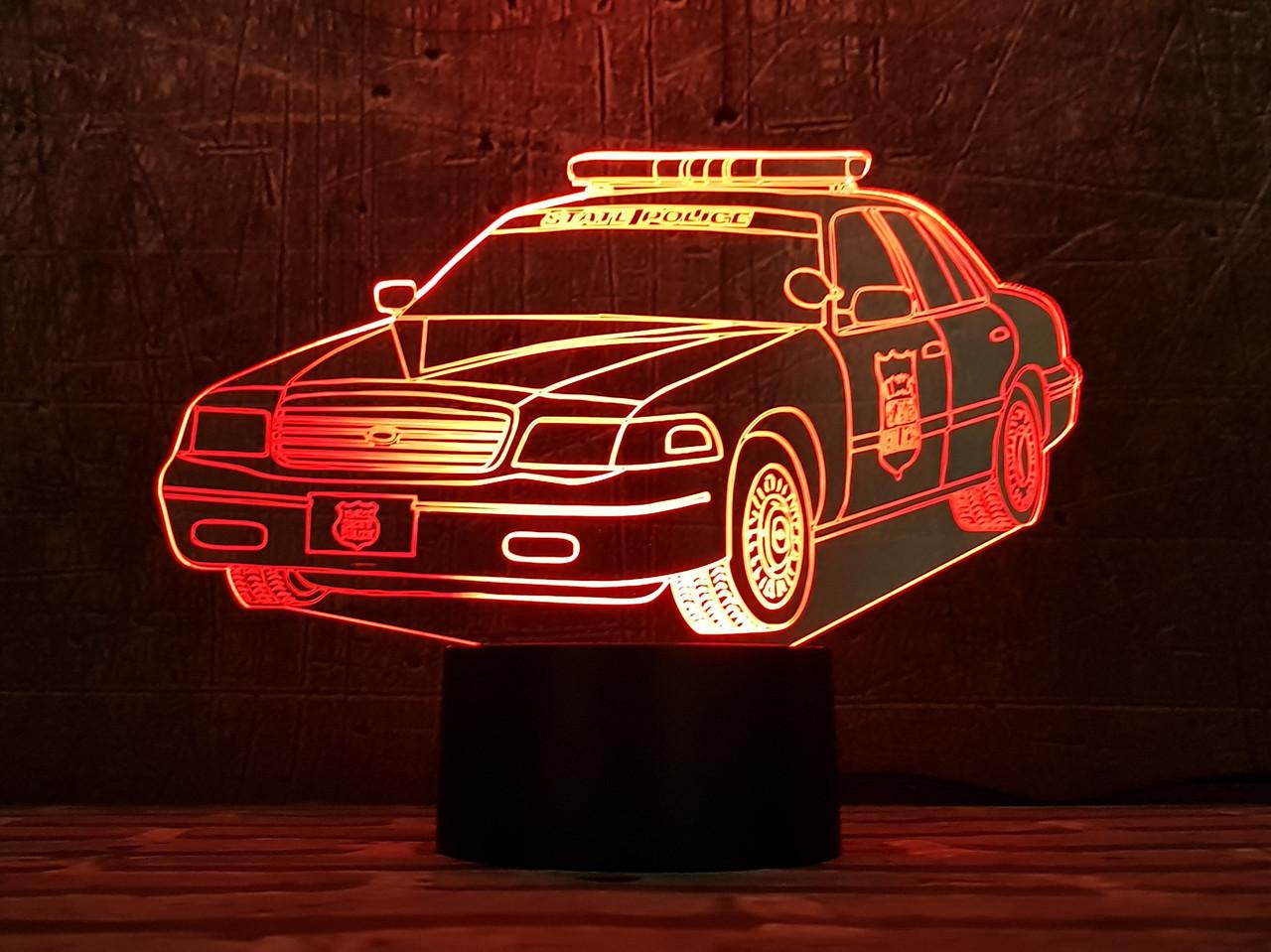 """Сменная пластина для 3D светильников """"Автомобиль 30"""" 3DTOYSLAMP"""