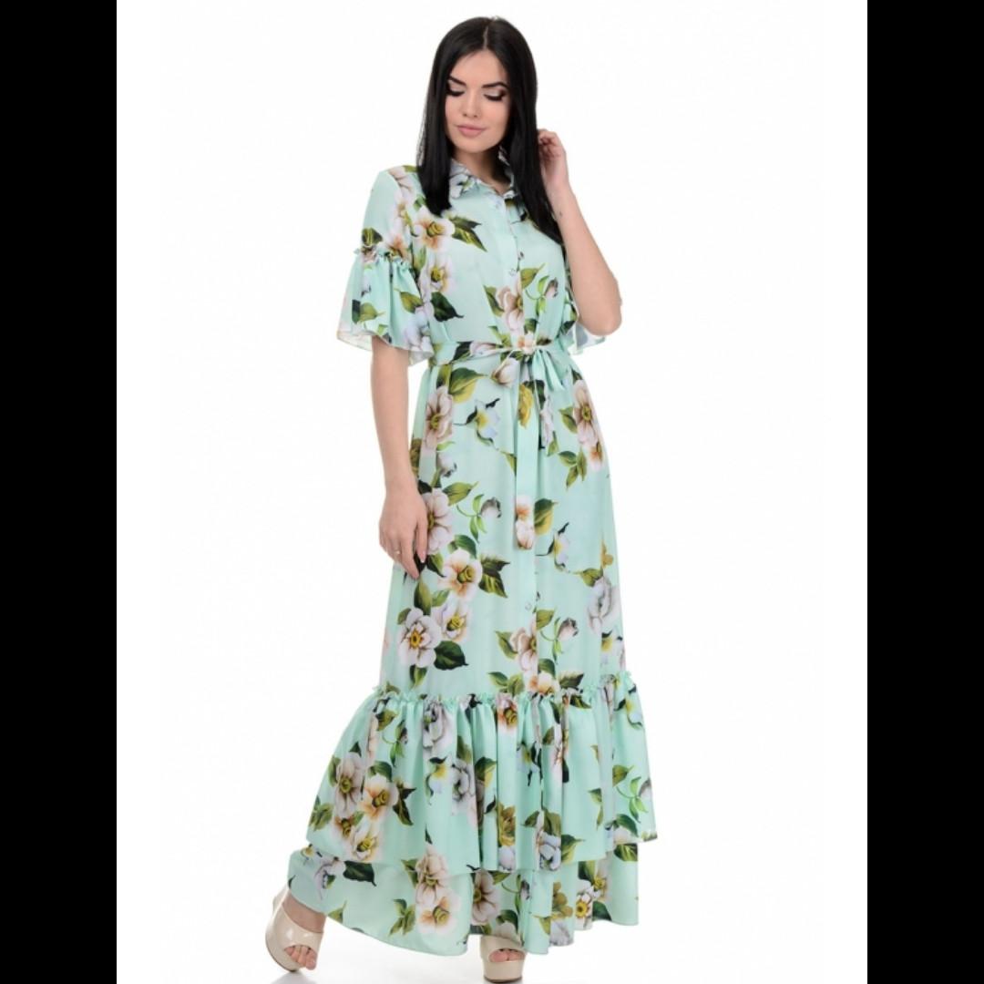Платье, цвет мята