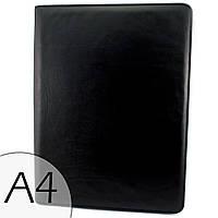 Папка для документов кожаная А4 Crez-701 black, фото 1