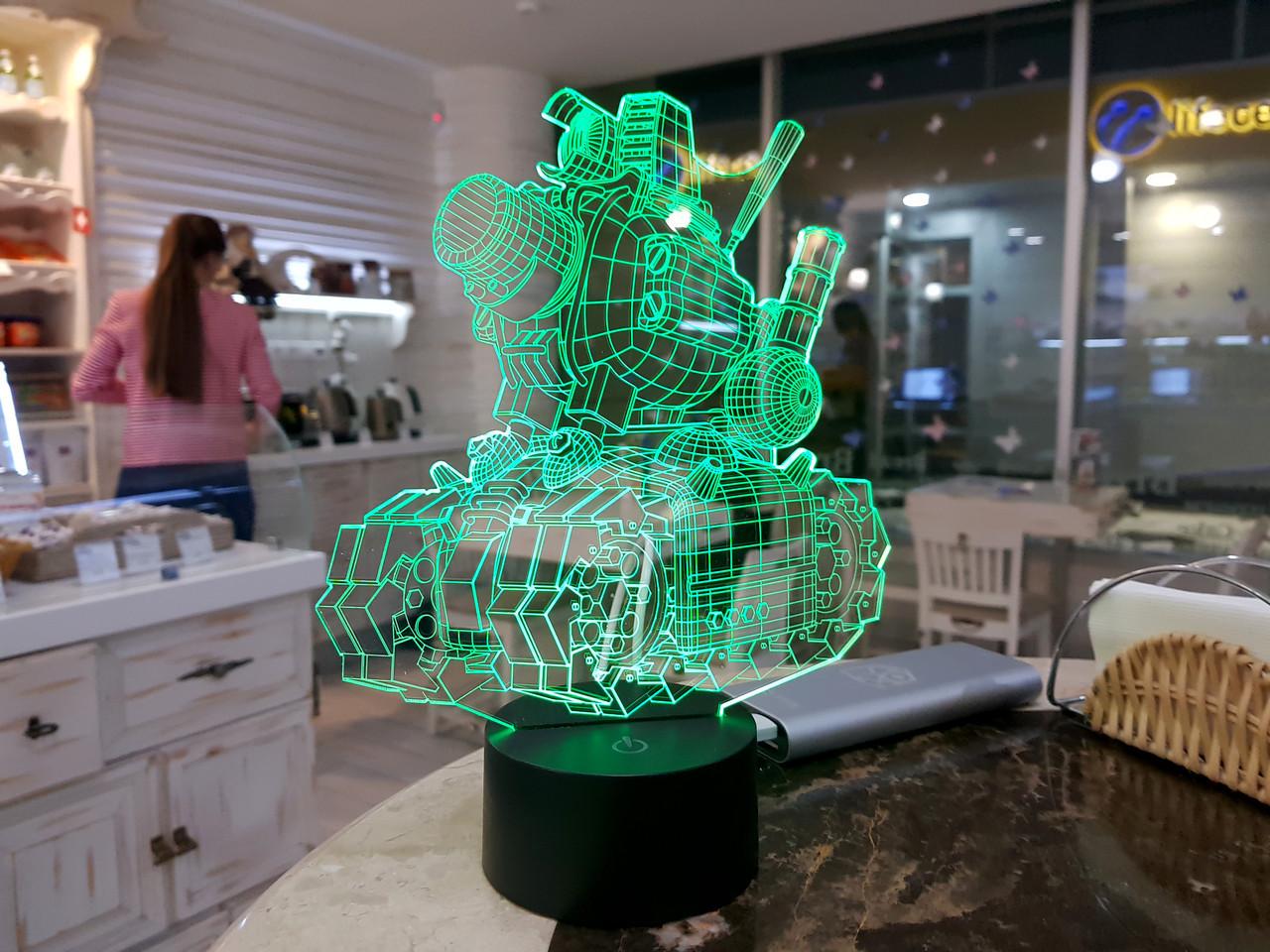 """Сменная пластина для 3D светильников """"Танк 2"""" 3DTOYSLAMP"""
