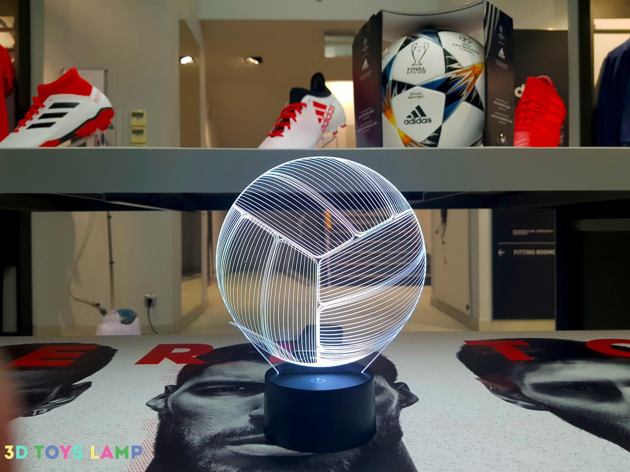 """Сменная пластина для 3D светильников """"Волейбольный мяч"""" 3DTOYSLAMP, фото 1"""