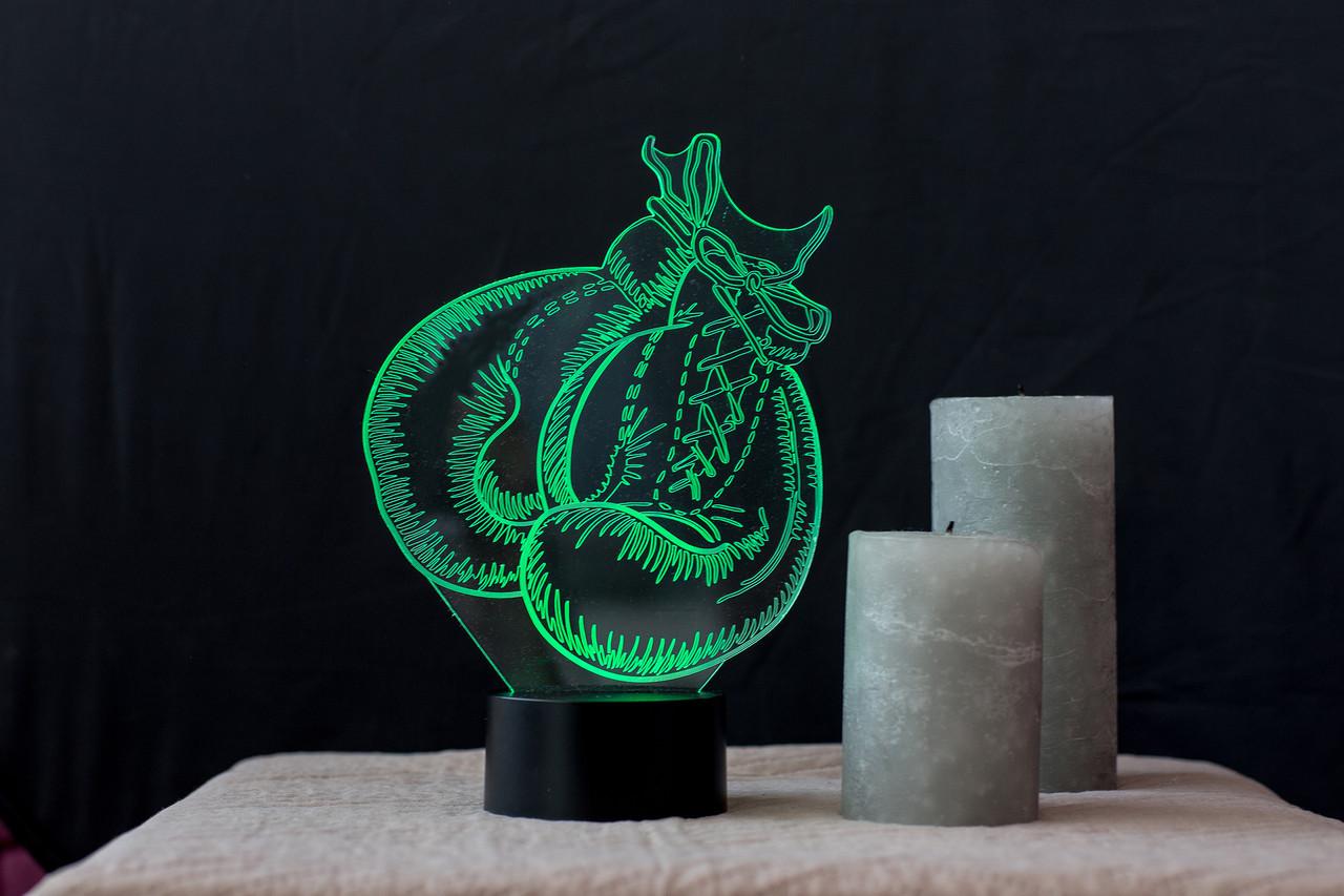 """Сменная пластина для 3D светильников """"Бокс"""" 3DTOYSLAMP"""