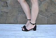 Элегантные босоножки низький  удобный каблук , фото 1