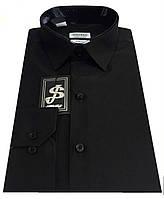 Рубашка мужская черная №10-12 Dacron 31