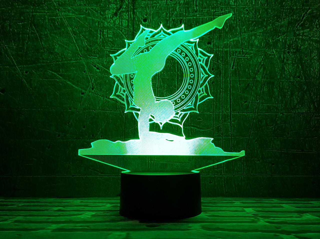 """Сменная пластина для 3D светильников """"Йога 2"""" 3DTOYSLAMP"""