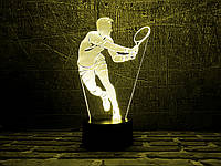 """Сменная пластина для 3D светильников """"Теннисист"""" 3DTOYSLAMP, фото 1"""