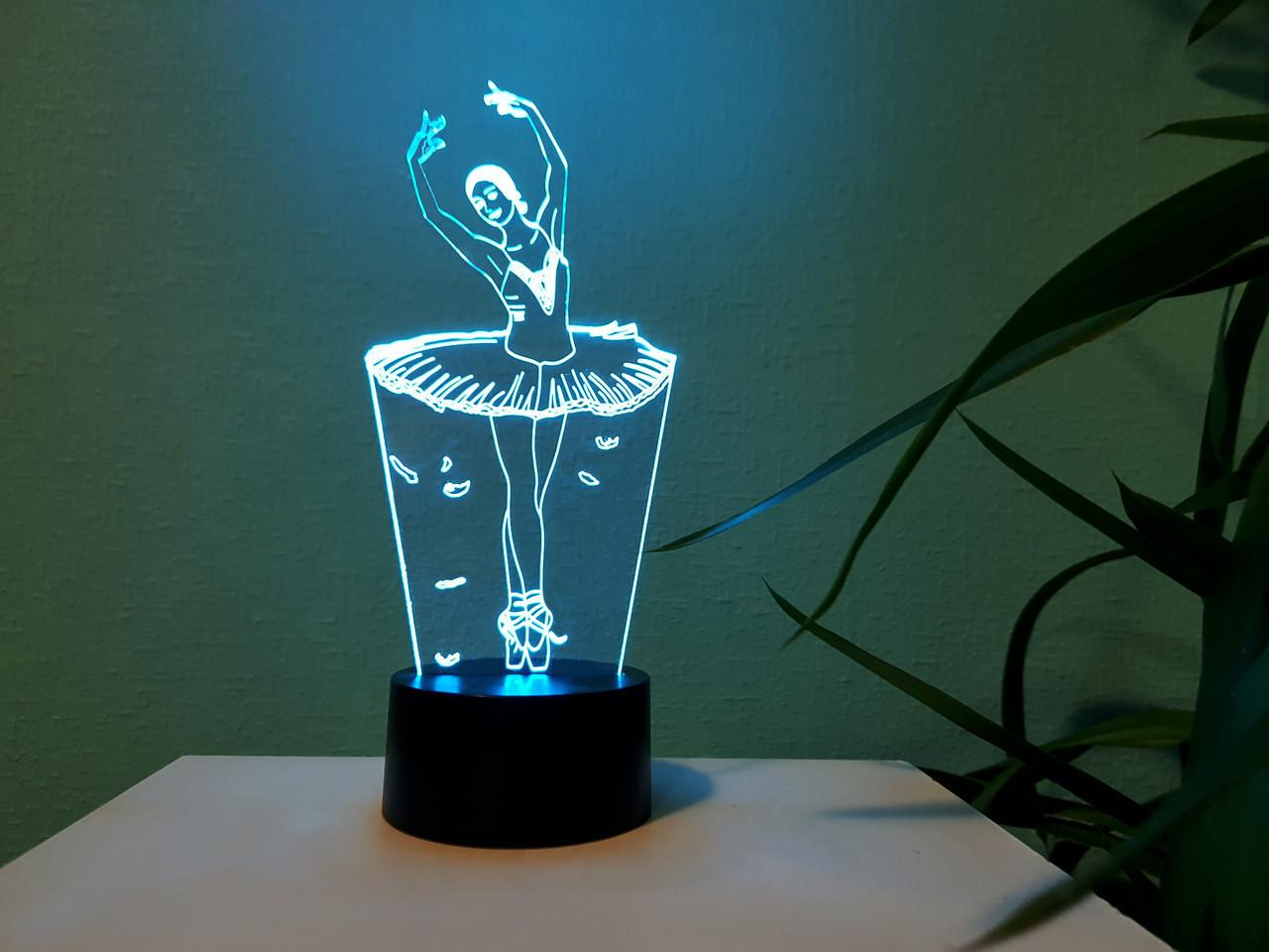 """Сменная пластина для 3D светильников """"Балерина"""" 3DTOYSLAMP"""