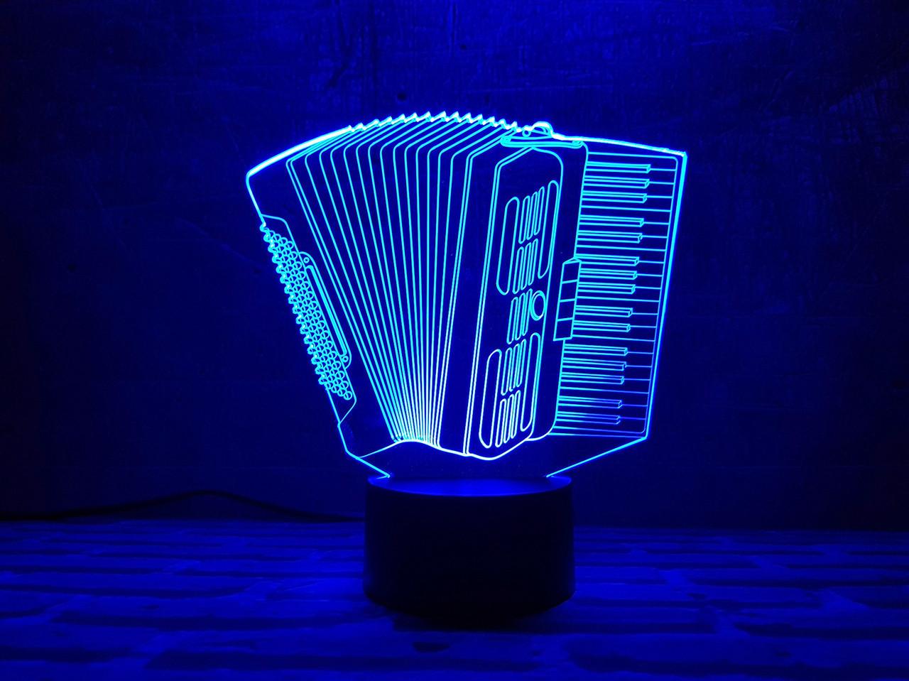 """Сменная пластина для 3D светильников """"Баян"""" 3DTOYSLAMP"""